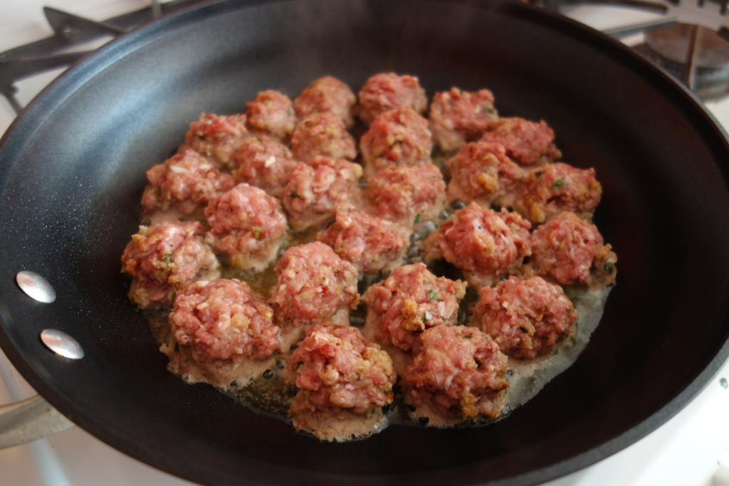 keeping it real food duck meatballs cooking