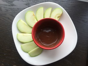 apple with PB2 sauce