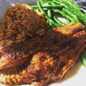 blackened Carolina Trout