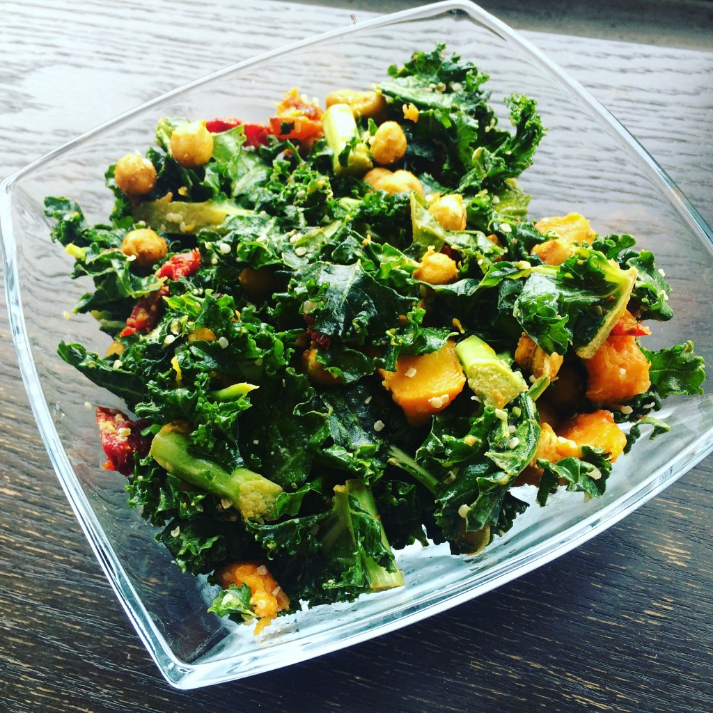 IMG 5252 1024x1024 - Meatless Meals that Don't Suck: Crispy Chickpea Kale Salad