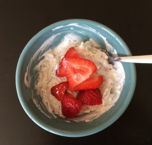yogurt with strawberries