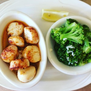 black whale broiled scallops