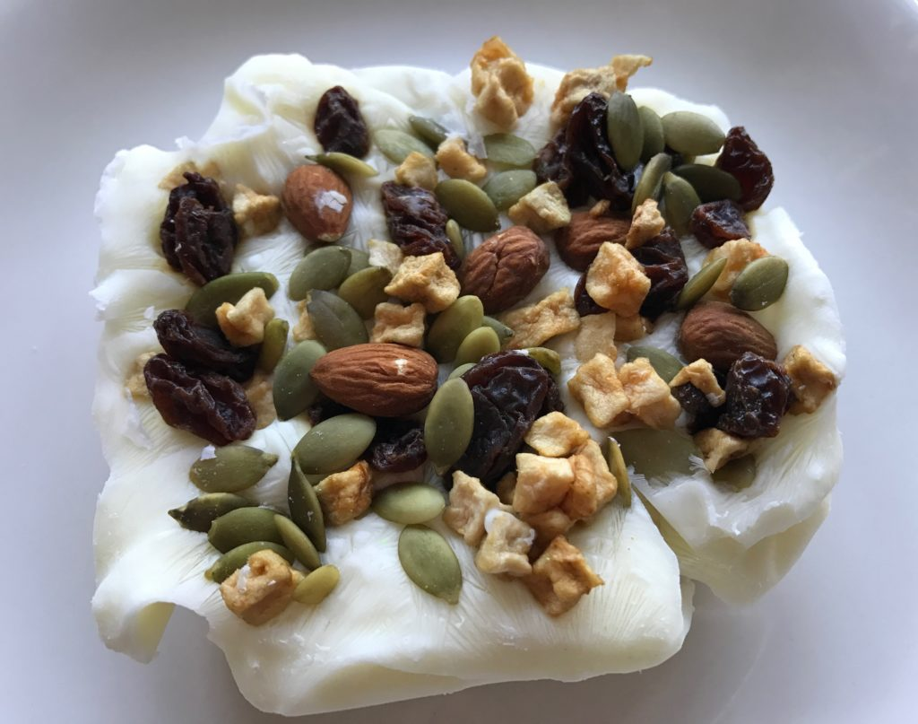IMG 0791 1024x807 - 4-Ingredient Frozen Yogurt Trail Mix Breakfast Bar