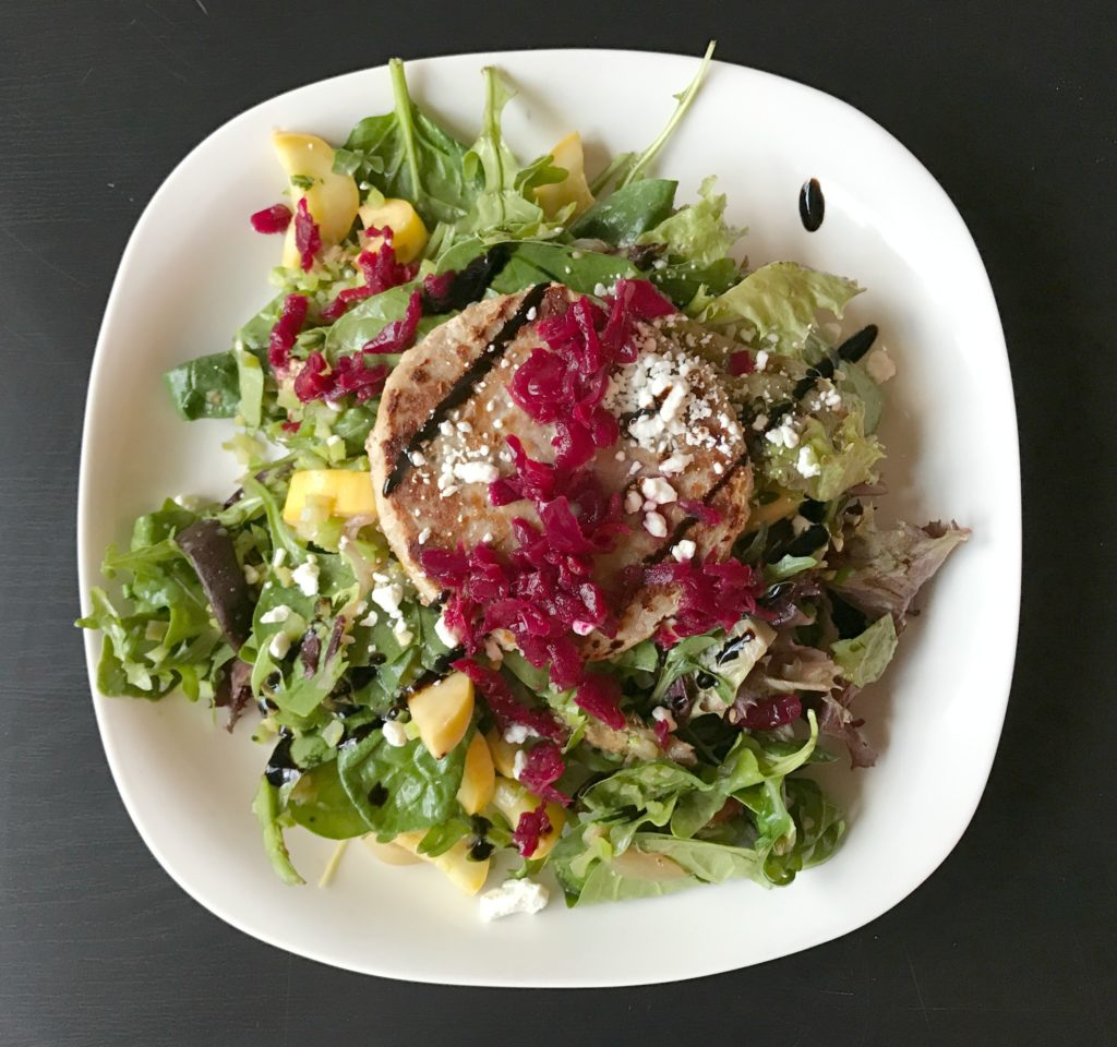 turkey burger salad 1024x960 - What I Ate Wednesday: More Saturday Stuff