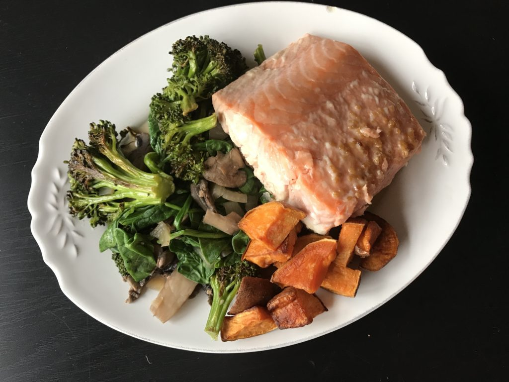Salmon Broccoli & Sweet Potato