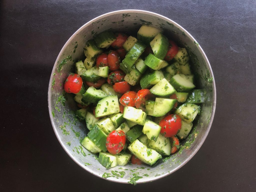 CucumberTomatoSalad2 1024x768 - Can I Eat Meat On A Plant-Based Diet?